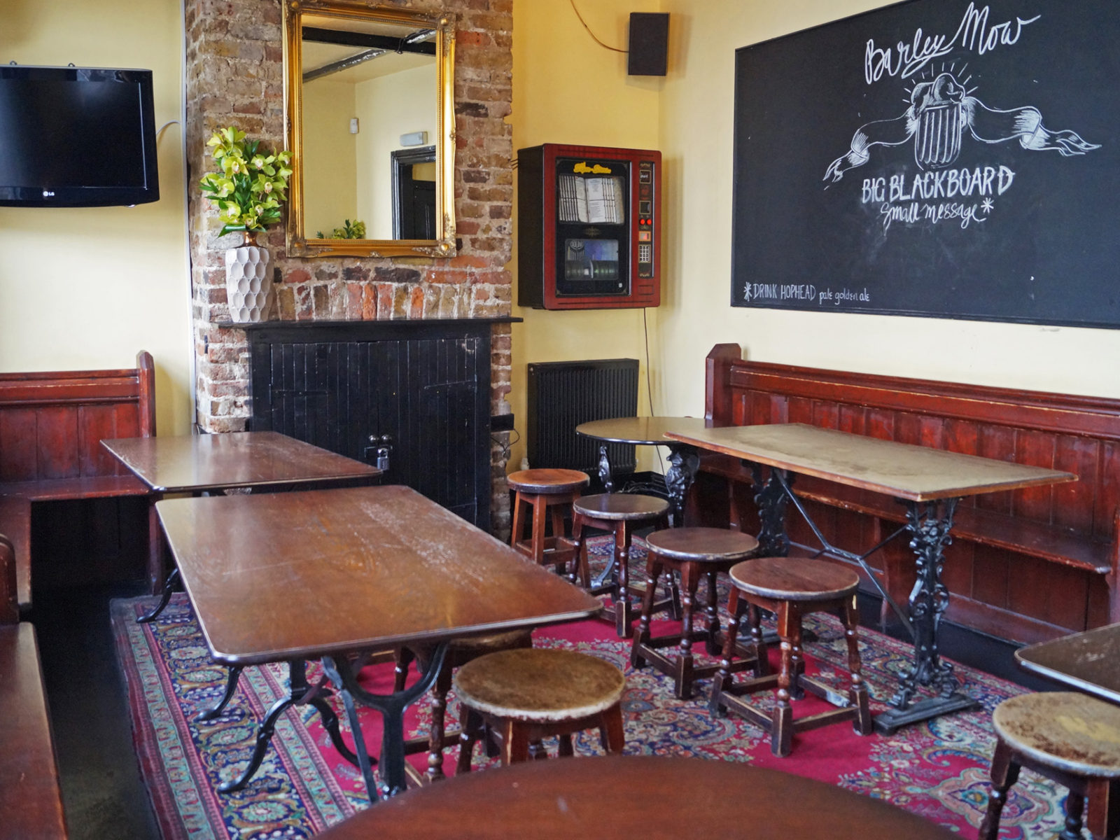 Cosy function room with Blackboard